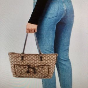 ANYA HINDMARCH Logo Tote Bag! Great for fall/winte